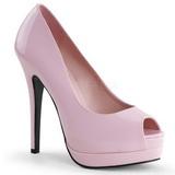 Pink Lakk 13,5 cm BELLA-12 Körömcipők Tűsarkú Magas Cipők