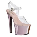 Pink Átlátszó 18 cm SKY-308 Magassarkú Platform