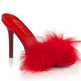 Piros 10 cm CLASSIQUE-01F női papucs Prém