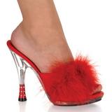 Piros 12,5 cm GLITZY-501-8 marabu toll Papucs