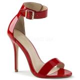 Piros 13 cm Pleaser AMUSE-10 női magassarkú szandál