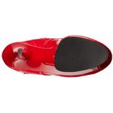 Piros 15,5 cm DELIGHT-2023 Platform Női Csizma