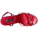 Piros 15 cm Devious DOMINA-108 női magassarkú szandál