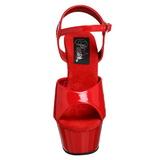 Piros 15 cm Pleaser KISS-209 Magassarkú Platform