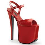 Piros 18,5 cm Devious TRAMP-709 Fetis Magassarkú Cipők