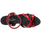 Piros 18 cm Pleaser MOON-728 Platform High Heels Cipők