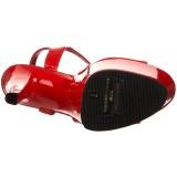 Piros 18 cm Pleaser SKY-309 Magassarkú Platform