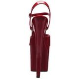 Piros 20 cm Pleaser FLAMINGO-809 Magassarkú Platform