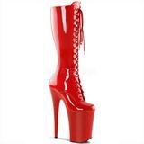 Piros 23 cm Pleaser INFINITY-2020 Platform Női Csizma