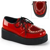 Piros 5 cm CREEPER-108 Platform Creepers Cipő