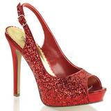Piros Csillámos 12 cm LUMINA-28G Körömcipők magas cipők