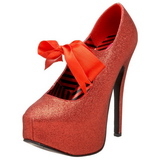 Piros Csillámos 14,5 cm Burlesque TEEZE-04G női cipők a magassarkű