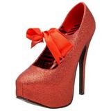 Piros Csillámos 14,5 cm TEEZE-04G női cipők a magassarkű