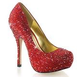Piros Csillogó Kövekkel 13,5 cm FELICITY-20 női cipők a magassarkű