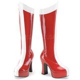 Piros Fehér 11 cm Funtasma EXOTICA-305 Platform Női Csizma