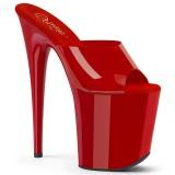 Piros Jelly-Like 20 cm FLAMINGO-801N rúdtánc papucs platform