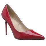 Piros Lakk 10 cm CLASSIQUE-20 Körömcipők Tűsarkú Cipő
