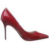 Piros Lakk 10 cm CLASSIQUE-20 Körömcipők Tűsarkú Magas Cipők