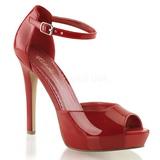 Piros Lakk 12 cm LUMINA-45 Körömcipők magas cipők
