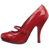 Piros Lakk 12 cm retro vintage CUTIEPIE-02 Női Körömcipők