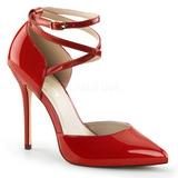 Piros Lakk 13 cm AMUSE-25 Körömcipők magas cipők