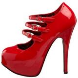 Piros Lakk 14,5 cm Burlesque TEEZE-05 női cipők a magassarkű