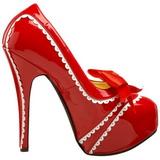 Piros Lakk 14,5 cm Burlesque TEEZE-14 női cipők a magassarkű