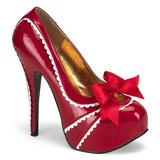 Piros Lakk 14,5 cm Burlesque TEEZE-14 női cipők magassarkű