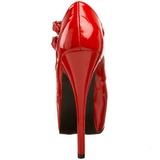 Piros Lakk 14,5 cm TEEZE-05 női cipők a magassarkű