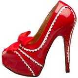 Piros Lakk 14,5 cm TEEZE-14 női cipők a magassarkű