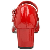 Piros Lakk 5 cm SCHOOLGIRL-50 Klasszikus Körömcipők