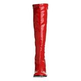 Piros Lakk 8,5 cm GOGO-300 Női Csizma a Férfi