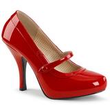 Piros Lakkbőr 11,5 cm PINUP-01 nagy méretek körömcipők