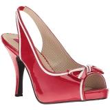 Piros Lakkbőr 11,5 cm PINUP-10 nagy méretek szandál női