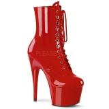 Piros Lakkbőr 18 cm ADORE-1020 női platform bokacsizma