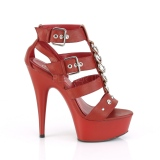 Piros Műbőr 15 cm DELIGHT-658 pleaser cipők a magassarkű