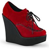 Piros Műbőr CREEPER-302 creepers éktalpú cipők