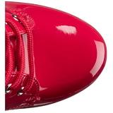 Piros Platform Bokacsizma női 15,5 cm DELIGHT-1020