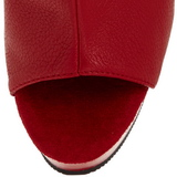 Piros Platform Bokacsizma női 16 cm Pleaser DELIGHT-1018