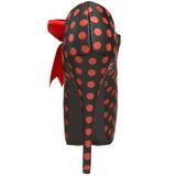 Piros Pontok 14,5 cm TEEZE-25 Fekete Körömcipők