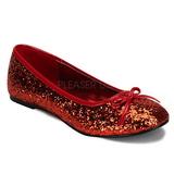 Piros STAR-16G Csillámos Balerínky Cipők