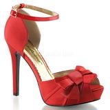 Piros Szatén 12 cm LUMINA-36 Körömcipők magas cipők