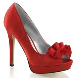 Piros Szatén 12 cm LUMINA-42 Körömcipők magas cipők