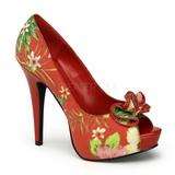 Piros Virág 13 cm LOLITA-11 női cipők magassarkű