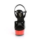 Piros krom platform 15 cm DELIGHT-609 pleaser magassarkú