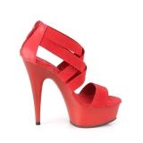 Piros rugalmas szalag 15 cm DELIGHT-669 pleaser cipők magassarkú