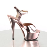 Réz 15 cm KISS-209 Platform Magassarkú Cipők