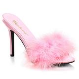 Rozsaszin 10 cm CLASSIQUE-01F női papucs Prém