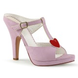 Rozsaszin 10 cm retro vintage SIREN-09 Papucs Női Cipők