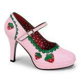 Rózsaszín 11 cm CONTESSA-58 női cipők a magassarkű